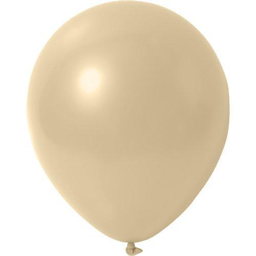 partydiscount24 100 x Luftballons Metallic (Glänzend) Ø 30 cm | Freie Farbauswahl | 23 Ballon Farben (Creme)