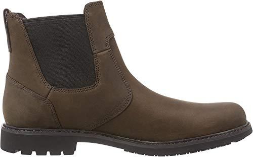 Timberland Herren Stormbucks Chelsea Pull-on Chukka Boots, Braun (Dark Brown Nubuck), 43 EU