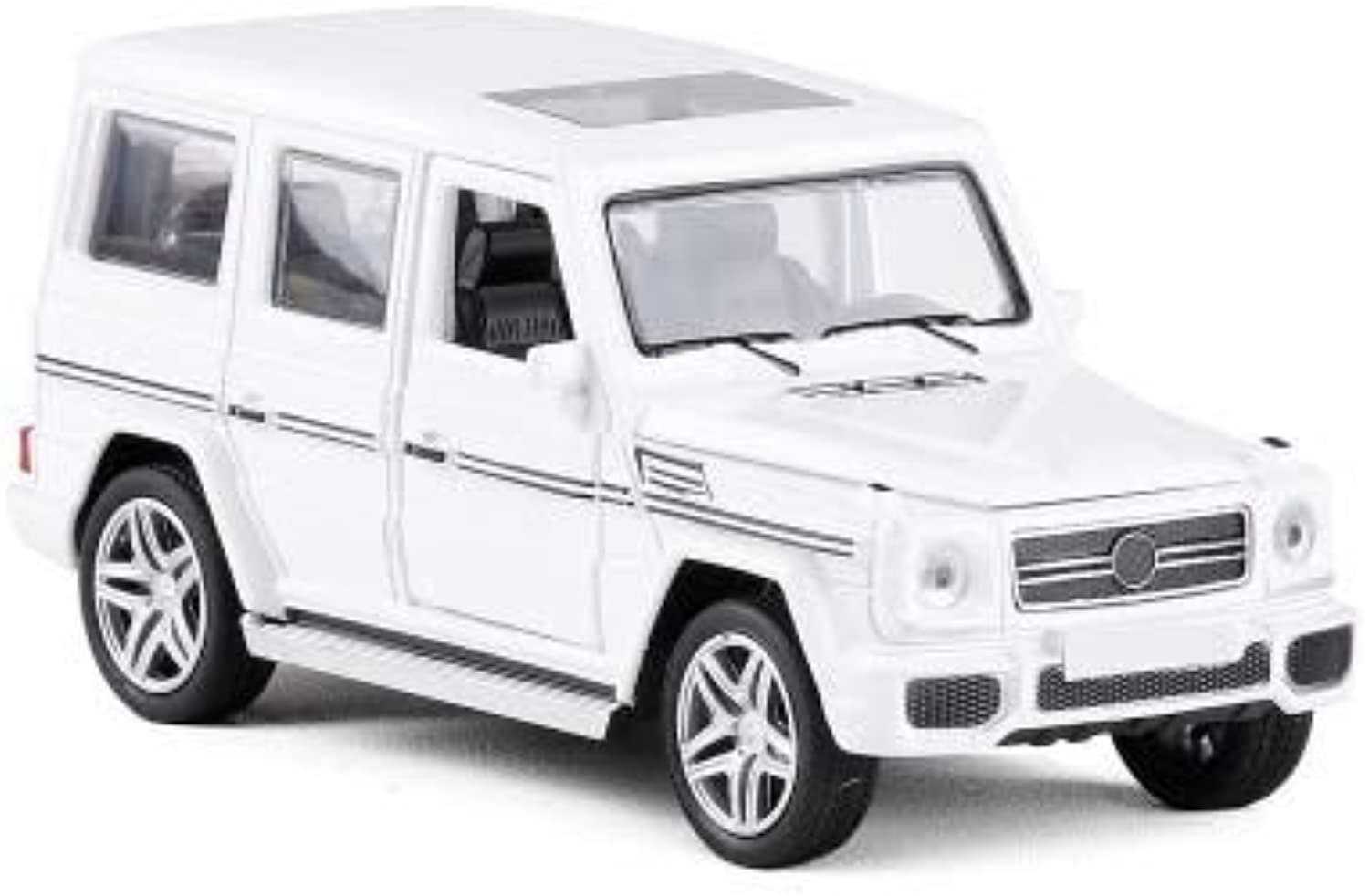 Generic 1 32 Diecasts Toy Vehicles G65 AMG Car Model with Sound Light Pull Back Car Toys for Boy Gift Collection White