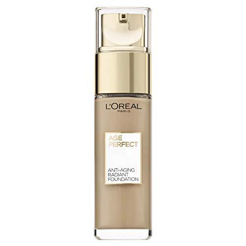 L'Oréal Paris Age Perfect feuchtigkeitsspendendes Make-Up für reife Haut, für einen strahlenden natürlichen Teint, LSF 17, 160 beige rose (1 x 30 ml)