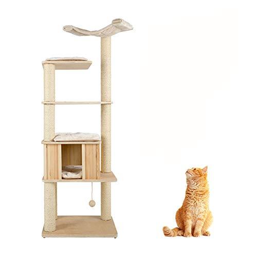 GBY Katzennest Katzenklettergerüst Massivholz Katzennest Katzenbaum Katzenbaum Katzenbaum Katzenhöhle Katzennest Katzenhöhle Katzenbaum Katzenhöhle Haltepfosten für den Innenbereich 170 x 60 cm