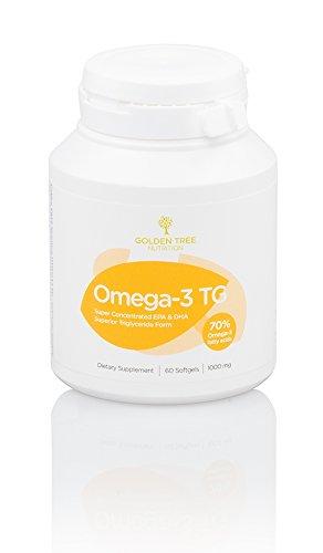 Omega-3 Fischöl, 2000mg | Hohe Konzentration an EPA (800mg) & DHA (400mg) | Hochwertige Triglycerid-Form (TG) | Höchste Fischöl-Reinheit | 60 Kapseln | Prüfung der Reinheit & Wirksamkeit durch Dritte