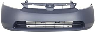 Crash Parts Plus Primed Front Bumper Cover Replacement for 2006-2008 Honda Civic Sedan