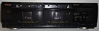 Teac W505R Auto Reverse Stereo Double Dual Cassette Tape Deck With High Speed Dubbing Complete with Audio Video Cables and Instruction Manual Digital PDF
