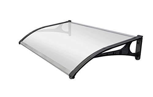 SmartSun Marquesina Evoke aluminio 150x80cm. Grosor 2,7mm ultraresistente. Tejadillo puerta protección