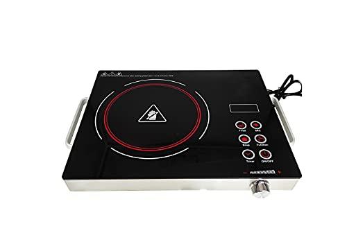 Fornello elettrico in ceramica 2000w piano cottura infrarossi portatile cucina