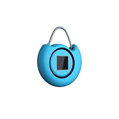 Anelli Portachiavi Lucchetto per Password dell'impronta Digitale Mini Smart Password Password Blocco Serratura Bagagli Portatili Portachiavi (Color : Sapphire Blue)