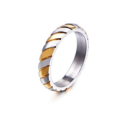 PW 精良SUS316L製 しま模様 ゴールド金 ブルー青 ブラック黒 シンプル 指輪 【ラッピング対応】