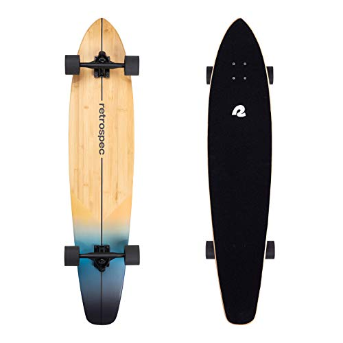 Retrospec Zed Longboard Skateboard Complete Cruiser   Bamboo & Canadian Maple Wood Cruiser w/Reverse...