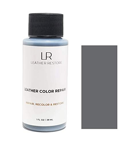 Leather Restore Leather Color Repair, Dark Gray 1 OZ - Repair, Recolor and Restore Couch, Furniture, Auto Interior, Car Seats, Vinyl and Shoes