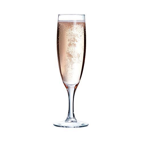 Arcoroc 56416 Flûte à Champagne Élégance, Verre, Transparent, 13 cl, 12 pieces
