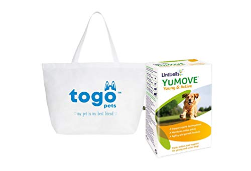 Yumove Lintbells Young and Active Dog Joint Supplements- (Pack of 1) 60 Tablets, bundle with Tote Bag