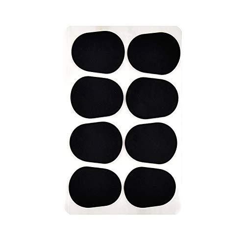 マウスピースパッチ 0.3mm 8枚セット サックス/クラリネット用 マウスピース クッション ゴム製 大型 ブラック