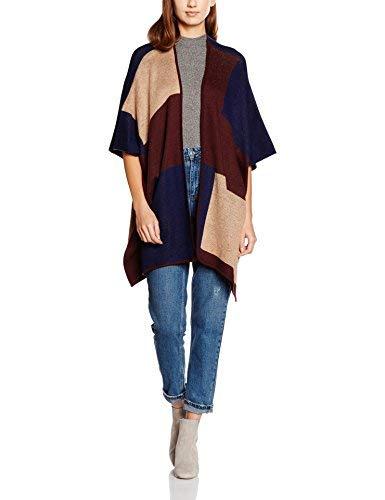 Dorothy Perkins Multi Blocked Blanket Cardigan, Marrone (Light Brown), Large Donna