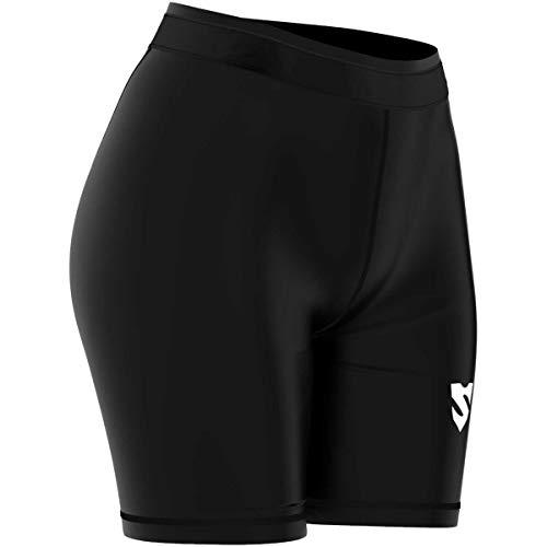 SMMASH Black Short de Compression pour Femme, Legging Ocr Ultra Light, Cuissard Sportif, Crossfit, Gym, Outdoor, Pantalons d'entraînement légers et Respirants, fabriqué dans l'UE. (S)