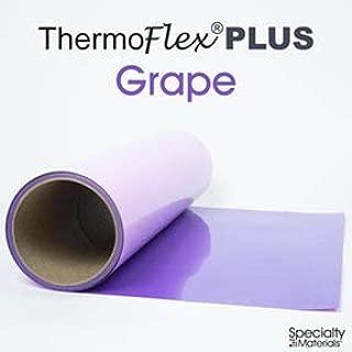 Thermoflex Plus Heat Transfer Vinyl (HTV) Iron-on for Silhouette Cameo, Cricut, etc with a Free Tool (Grape, 15