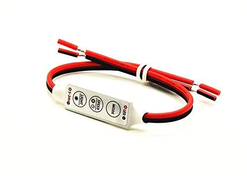 Pwm Tipo 256 Regulable Dispositivo para Bombillas LED Dc 5V 24V Cable On Off Interruptor de Lámpara con Luz Estroboscópica,Flash y Dinámico Funciones,bajo Voltaje Intensidad 6 Voltios 12 24 Ba