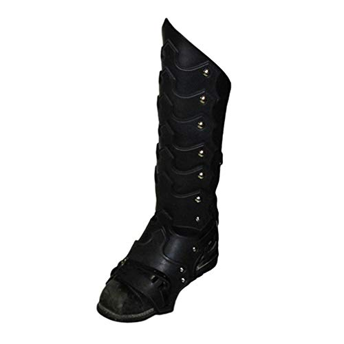 junkai Piraten Gamaschen Pirat Überschuh Stiefelstulpen Mittelalter Stulpen Lace-up Schnalle Shoes Covers Gothic Steampunk Pirate Boot Cover