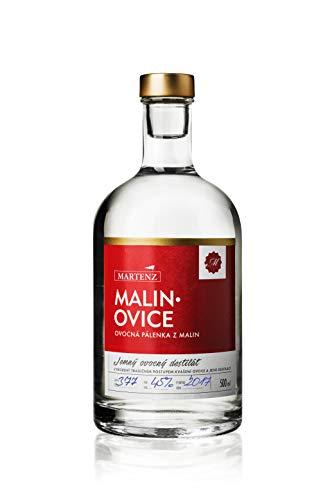 Martenz - Himbeerbrand - GOLD VIP 45% (0,5l Flasche) - 100% echter Obstbrand nur aus Himbeeren