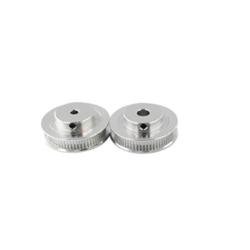 X-BAOFU, 10pcs GT2 Zahnriemenscheibe 30 36 40 60 Tooth Radbohrung 5mm 8mm Aluminium Getriebezähne Breite 6mm Teile for Reprap 3D-Drucker Teil (Größe : 60T W6 B5)