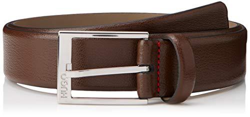 HUGO Gellot_sz35 Cinturón, Marrón (Dark Brown 202), 100 (Talla del fabricante: 85)...