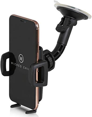 Wicked Chili Universal KFZ Halterung kompatibel mit Samsung Galaxy S10+, S10, S10e, S9+, S8+, A40, A50, A20e, A10, iPhone 11 Pro, Max, 8 Plus, Autohalterung (Breite 56-86mm, für Hülle und Case)