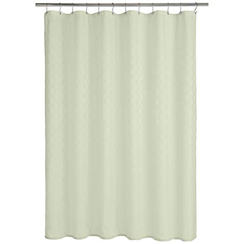 AmazonBasics - Cortina de ducha de poliéster estilo Bowery, brote verde, 183 x 200 cm