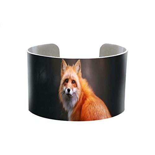 Fashion Cute Fox Bangle Beautiful Lovely Animals Bracelet Art Adjustable Aluminum Cuff Handmade Bangle Ladies Jewelry 2