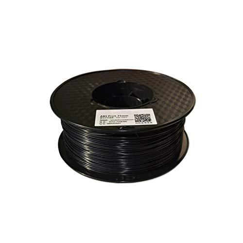 3D imprimante Filament ABS Filament 1.75mm matériel d'impression 3D en Plastique ABS for imprimante 3D et Stylo d'impression Multicolore en Option 1kg (Color : Black)
