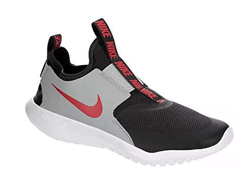 Nike Kids Flex Runner (Big Kid) Dark Smoke Grey/University Red 5.5 Big Kid M