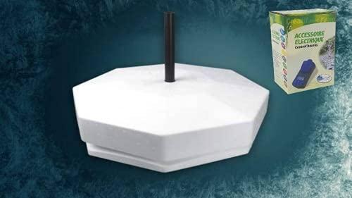 Set T Eisfreihalter für Gartenteich Styropor von Pond-Life 8-Eckig 40cm mit gratis UVC Timer