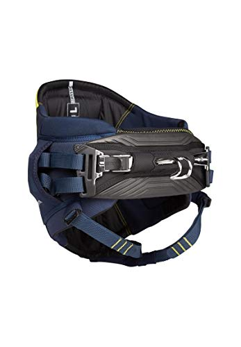 Mystic Watersports - Surf Kitesurf & Windsurfing Aviator Seat Harness - Navy Lime - Unisex - Comfortable Leg Straps