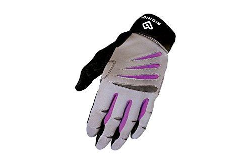 BIONIC Women's Cross-Training Full Finger Gloves, Gray/Purple, Small