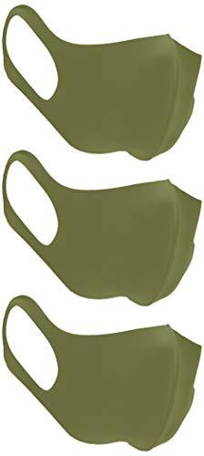 [オリエンタルトラフィック] マスク 3枚組 男女兼用 フィット感 耳が痛くなりにくい 呼吸しやすい 伸縮性 立体構造 丸洗い 繰り返し使える G-0005 カーキ