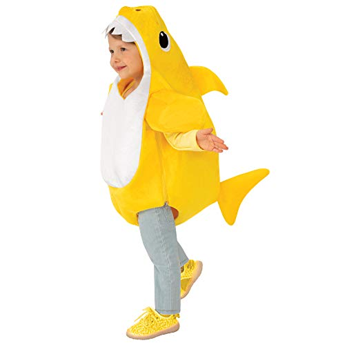 Rubie's unisex child Baby Shark With Sound Chip Costumes, Multi, Small US