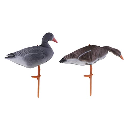 lahomia 2 Pieces Hunting Decoy - Geese Decorative Figure Pond Figure, Hunt Design +