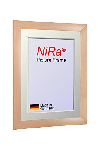 NiRa35 - Cornice portafoto su misura per foto da 12 x 77 cm, colore: acero, cornice in legno MDF, con vetro acrilico non specchiato e pannello posteriore in MDF, larghezza cornice: 35 mm, dimensioni esterne: 17,8 x 82,8 cm