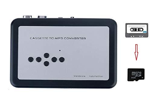 Stand Alone Cassette Tape to MP3 Converter(No PC Required,Black,Auto-Reverse)