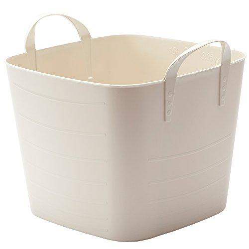 「スタックストー」 収納ボックス baquet (バケット) ホワイトグレー L 40L