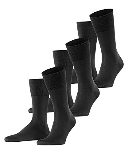 FALKE Herren Tiago 3-Pack M SO Socken, Blickdicht, Schwarz (Black 3000), 43-44 (3er Pack)