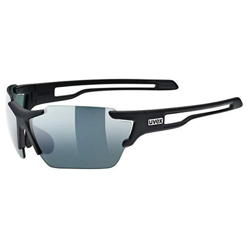 uvex Unisex– Erwachsene, sportstyle 803 CV Sportbrille, kontrastverstärkend, black mat/urban, one size