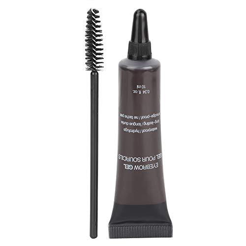 Semme Eyebrow Liner Cream avec pinceau, gel pour sourcils professionnel Teinture pour sourcils imperméable Gel pour sourcils Teinte Brosse à sourcils Outils cosmétiques(5)