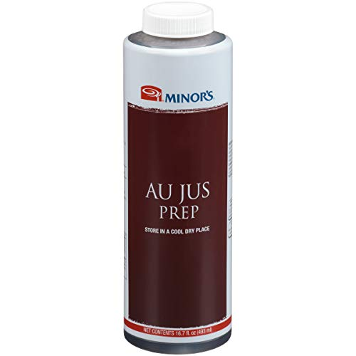 Minor's Au Jus Prep Sauce, Sauce and Marinade for Prime Rib, 16.7 oz Bulk Container