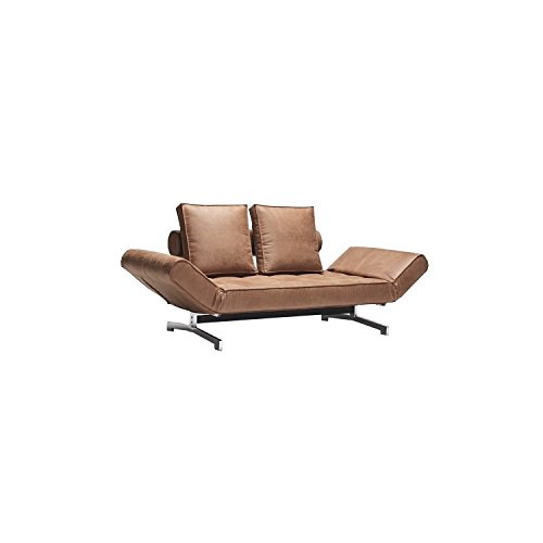 Dynamic24 Innovation Schlafsofa GHIA braun