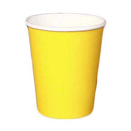 Alien Storehouse 100 Count 8 Unzen Pappbecher Einweg Pappbecher für Kaffee, Gelb