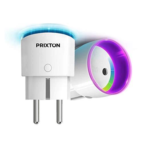 PRIXTON - Wifi/Smart Plug met Mobile APP, Afstandsbediening, Programmeerbaar in Dagen en Uren, Compatibel met de jouwe, Timer inbegrepen | EW10