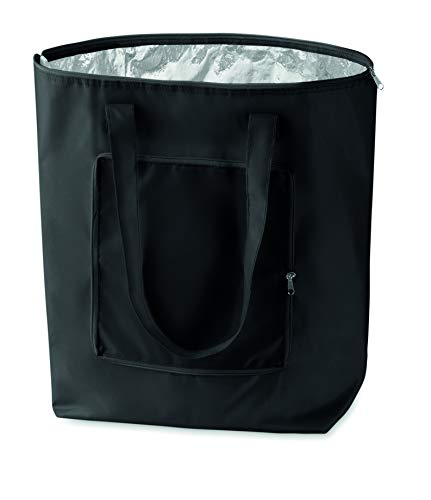noTrash2003 Faltbare Einkaufstasche mit Etui - leicht und stabil - mit Innen Aluminiumbeschichtung Kühlfunktion in 6 attraktiven Farben (Schwarz)