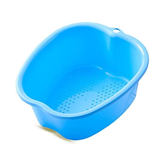 Grand Pédiluve Bain de Pieds,Bassin Spa Pieds Baignoire,Tremper les Pieds Seau,Seau Tremper Pieds en Plastique épais et Robuste.Pour Pédicures/Détox/Massage pour Relaxant (Blue)