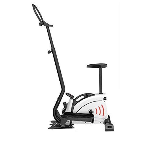 FUFU Equipo de fitness paso a paso de escalera, escritorio elíptico Mini paso a paso de salud y fitness Twist Step Machine con barra de mango y monitor LCD para el hogar Fitness y pérdida de peso.
