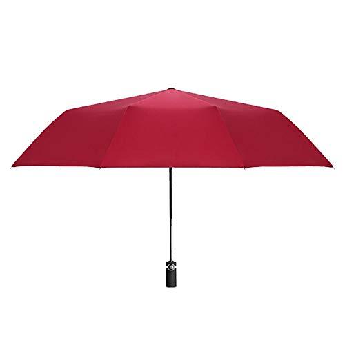 Jakovie Automatic Umbrella Umbrella Tragbarer ultravioletter Regenschirm DREI-in-einem-Bein Schwarze Kunststoffoberfläche Kompakter Faltschirm Wasserdichter Regenschirm